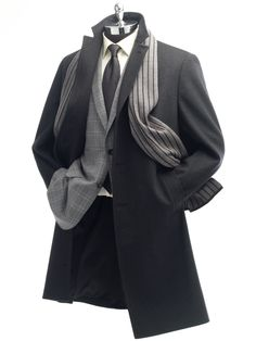 Ready-To-Wear: Outerwear by Tom James Mens Raincoat, Dress Outfits, Dress Clothes, Tie Dress, Top Coat, Ready To Wear, Suit Jacket, Mens Fashion, Style Inspiration