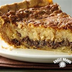 Chocolate and Coconut Pecan Custard Pie from Eagle Brand®