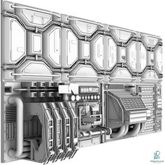 Visit 3D Squirrel today to buy this stunning digital 3D Model of a Sci-Fi Wall Panel at:  http://www.3dsquirrel.co.uk/forums/files/file/229-sci-fi-wall-panel-kit/