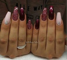 November Nail Designs Picture gorgeous nails for november december winter nails maroon November Nail Designs. Here is November Nail Designs Picture for you. November Nail Designs nail designs for sprint winter summer and fall holidays to. Maroon Nail Designs, Acrylic Nail Designs, Nail Art Designs, Nails Design, Winter Nail Designs, Nail Ideas For Winter, Trendy Nails, Cute Nails, My Nails
