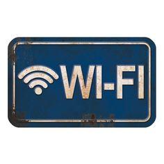 Placa Decorativa Wi-Fi 20x12cm DHPM-102 - Litoarte - PalacioDaArte Deco Restaurant, Barber Shop Decor, Fancy Words, Vintage Metal Signs, Metal Plaque, Hand Painted Signs, Wi Fi, Diy Wall Decor, Pop Art