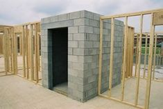 Built-in Safe Room/Tornado shelter--perfect for hurricane season! Maybe extra reinforcement around a pantry or bathroom or closet. whatever is centered n the home Metal Building Homes, Metal Homes, Building A House, Building Ideas, Build House, Church Building, Panic Rooms, Gun Rooms, Hidden Rooms