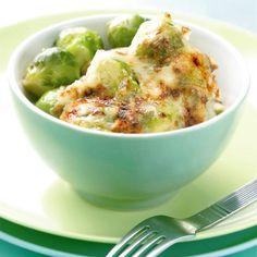 Gratinado de coles de Bruselas con salsa 'mornay'
