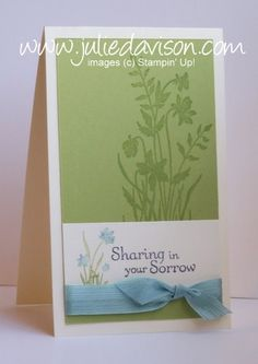 Julie's Stamping Spot -- Stampin' Up! Project Ideas Posted Daily: sympathy