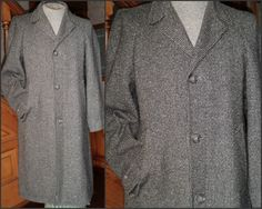 Wool Tweed Overcoat Topcoat S Brooks by VoraciouslyVintage on Etsy