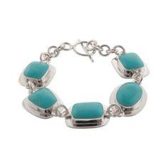 Target Turquoise Turquoise inlay Slvr Pltd Brcelet