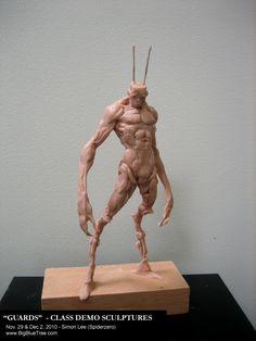 Simon Lee Creature 3d, Creature Concept Art, Creature Design, Alien Creatures, Fantasy Creatures, The Legend Of Monkey, Simon Lee, Art Nouveau, 3d Figures