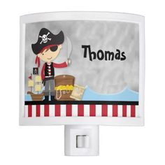 Cute  customized cartoon pirate kids Night Light