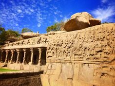 The beautiful monuments of Mahabalipuram, Tamil Nadu