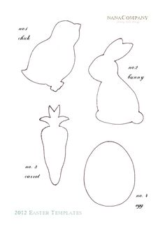 felt easter patterns free | Free+Printable+Easter+Template+for+Easter+Scrap+Fabric+Decorative ...