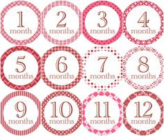 Pink & Brown Milestone Stickers Available in Just Born - 24 months Can be personalized with name!