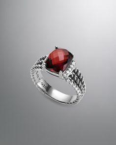 Petite Wheaton Ring, Garnet by David Yurman at Neiman Marcus.