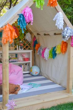 Outdoor Summer Reading Nook Challenge with Pottery Barn Kids
