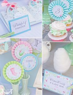 April Showers Party, Spring Party - PRINTABLE BIRTHDAY BANNER - Cutie Putti Paperie. $7.50, via Etsy.