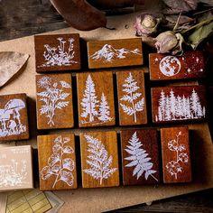 Washi, Wood Crafts, Diy Crafts, Christmas Note, Cheap Stamps, Moon Decor, Diy Workshop, Wood Stamp, Scrapbooking