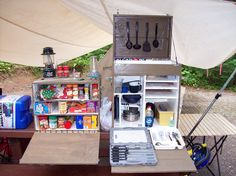 camp kitchen box plans | Mountainman's Mantra: The Chuck Box. I like the one for pots etc.