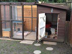 All sorts of rabbit housing idea for you to view. Great ideas, lots of fun and ways to make your bunnies' housing an attractive feature in the garden/home as well as a fantastic environment for... Bunny Sheds, Rabbit Shed, Rabbit Run, Feral Cat House, Rabbit Enclosure, Pet Bunny Rabbits, Bunnies, Hatching Chickens, Bunny Hutch