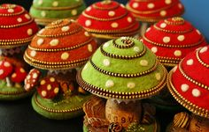 The caps are firmly stuffed with poly fill by woolly  fabulous, via Flickr