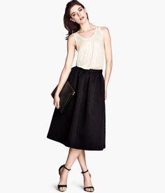 So simple, yet so chic. Black skirt, £34.99, H&M