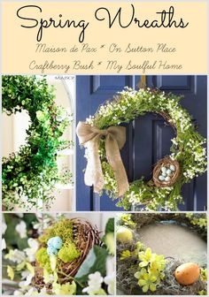 Spring Wreaths - round up - My Soulful Home #bHomeApp