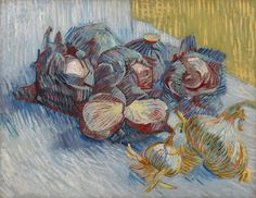 Van Gogh, Red Cabbages and Onions, October-November 1887. Oil on canvas, 50 x 64.5 cm. Van Gogh Museum, Amsterdam.