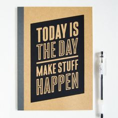 Make your own motivational typographic notebook with this tutorial! Free template included of this design to make your own.