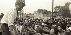 Bobby Kennedy campaigns in 1968