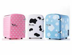 NEW Mini Portable Refrigerator 4Liter Mini Fridge ,Cosmetic Fridge/Warmer-pink