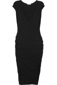 Love! Simple and classic. James Perse Ruched wrap-effect slub-jersey dress