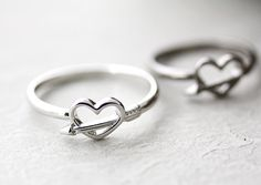 Heart love Ring Cupid Arrow Infinity Ring Jewelry by authfashion, $9.50