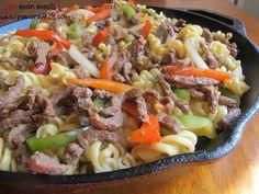 po' man meals beef fajita pasta #pasta #beef #fajita