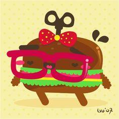 burgerita by ~loveshugah on deviantART #glasses #reading #cute