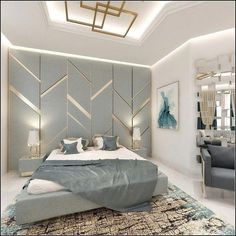 Modern Bedroom, Special Project The Most Realistic House Design A Modern Luxury Bedroom, Luxury Bedroom Design, Bedroom Furniture Design, Home Room Design, Master Bedroom Design, Contemporary Bedroom, Luxurious Bedrooms, Modern Room, Living Room 3d Design