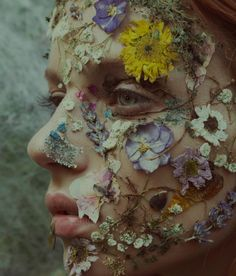 Marta Bevacqua aka Moth Art (Italian, b. Rome, Italy) - In Bloom, 2017 Photography Flower Aesthetic, Aesthetic Art, Editorial Photography, Portrait Photography, Photography Magazine, Flower Makeup, Deco Floral, Creative Portraits, Belle Photo