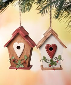 Take a look at this Birdhouse Ornament Set on zulily today!