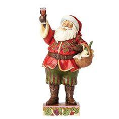 Heartwood Creek griller Traditions Figurine de Père Noël avec Vin Multicolore: Figurine heartwood Creek Conçu par Jim Shore Sculptures ont…