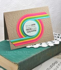 Layers & Frosting Card by Dawn McVey for Papertrey Ink (July 2013)