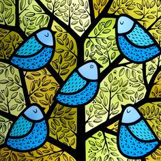 Early Bird (2014) - Contemporary Stained Glass by Flora Jamieson