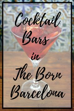 Enjoy some of the best cocktail bars in Born, Barcelona with our great list of some of our favorite spots! Cocktails are back and no one is happier about that than us! Best Cocktail Bars, Signature Cocktail, Spanish Cuisine, Spanish Food, Zombie Cocktail, Mixology Bar, Italian Buffet, Local Bars, Barcelona Travel