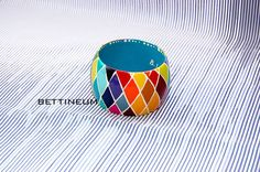 Hand Painted Bangle Bracelet by Bettineum on Etsy, $50.00