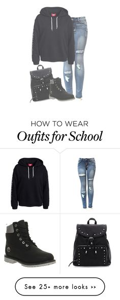 """""""Off to school in a few ~Bta"""" by l0ver-f0rever on Polyvore featuring Timberland"""