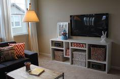 kids loft - tv room - art area
