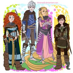 The Big Four: Warriors and Defenders of Change and Difference. But how come Hiccup's the only one that doesn't have ANY kind of armor. He could have at LEAST worn some chain mail. It's light.