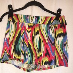 Anthropologie Shorts Super cute tie die anthropologie shorts! The size is super weird--it's a size 8, but fits like a 4...so I listed it as a 4. Anthropologie Shorts
