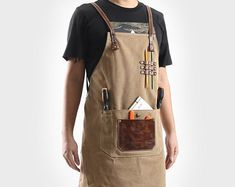 New Haws Heritage Classic Gardeners/' Full Length Leather Apron