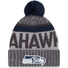 Seattle Seahawks New Season Sports Beanie Cuffed Winter Knit Cap Seattle  Seahawks Hat 5b393b3eb