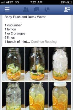Detox Water. Cucumber, oranges & mint