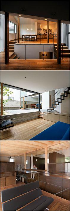 視線のズレが心地良い!開放感のあるスキップフロアの家5軒 Modern Japanese Interior, Asian Interior, Interior And Exterior, Interior Design, Furniture Inspiration, Interior Inspiration, Space Interiors, Private Room, Interior Architecture