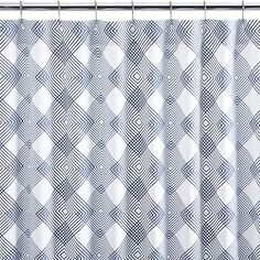 Spiro Shower Curtain in Shower Curtains & Rings | Crate and Barrel