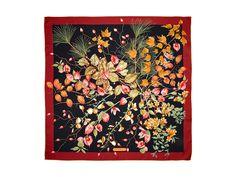 Salvatore Ferragamo autumn print silk scarf